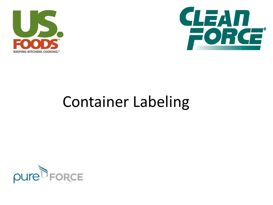 Container Labeling [SAY]